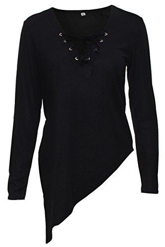 Prograce Womens V neck Knitted Sweater