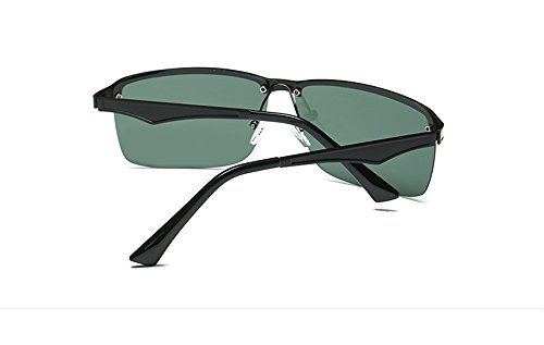 Foncé soleil CHshop Big lunettes Cadre Vert rétro de box Noir qwzAPIw