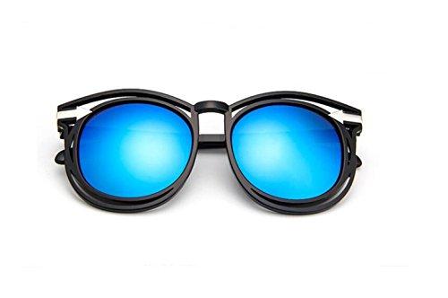 de salvaje gafas Bright black sol flecha blue de sol gafas LSHGYJ de retro moda gafas and gafas GLSYJ sol Hueco wOqnxTaF76