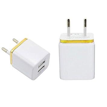 Haihuic 2 puertos USB Viaje a casa Cargador de pared Adaptador de carga Enchufe de la UE Para Cargar Celulares Cámaras IPAD Reproductores MP3