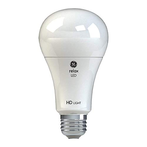 GE Lighting Relax HD LED Light Bulbs, 75W Replacement, A21, 2-Pack, Soft White, Dimmable Light Bulbs, Medium Base