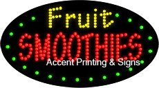 Fruit Smoothies Flashing & Animated LED Sign (High Impact, Energy Efficient)