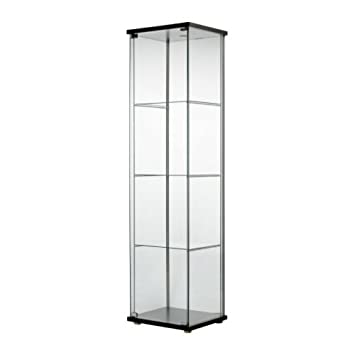 Ikea Detolf Glas Tür Schrank Schwarzbraun Amazonde Bürobedarf