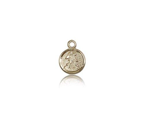 14 ktゴールドガーディアン天使メダル B0741CC3W5