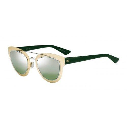 CHRISTIAN DIOR CHROMIC Sunglasses Green Gold Mirrored LMM9G 47mm