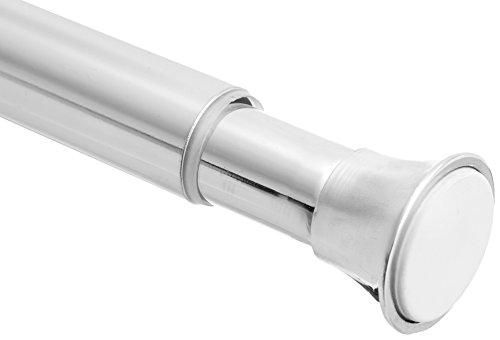 AmazonBasics Tension Curtain Rod - 78-108, Chrome