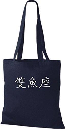 Shirtinstyle - Bolso de tela de algodón para mujer - french navy