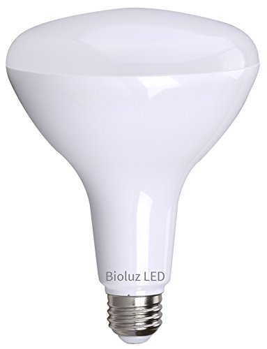 BR40 LED Bulb by Bioluz LED 3000K (Soft White) Dimmable Floodlight, 110° Beam Angle, Medium Base (E26), Dimmable, UL-Listed
