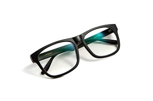 Unisex Wayfarer Blue Blocker Glasses â Anti-Glare Computer Glasses â Light Screen Glasses â Monitor Eyewear with 9 Anti Blue Light Coats of Protection â Premium Italian Acetate Frame