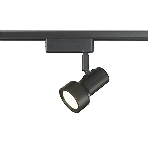 Commercial Electric LED Mini Step Linear Track Lighting Head Black