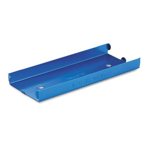 MMF Industries Rolled Coin Aluminum Tray with Denomination and Quantity Etched on Side