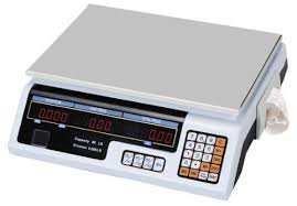 Flat Weighing Scale with Label Printer