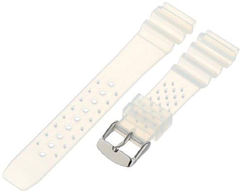 Strap Hyper Rubber (Momentum Men's ZC-20RUH M1 20mm Hyper Transparent Rubber Watch Strap)