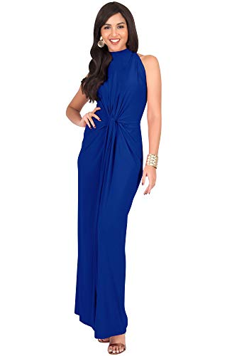 KOH KOH Womens Long Sleeveless Sexy Summer Vintage Tube Cocktail Gown Maxi Dress