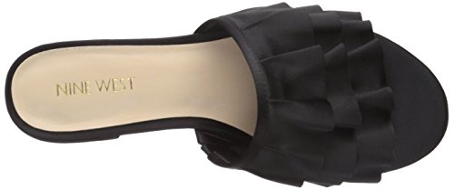 Sandalo Piatto Ivarene Satin Donna Nove West Nero