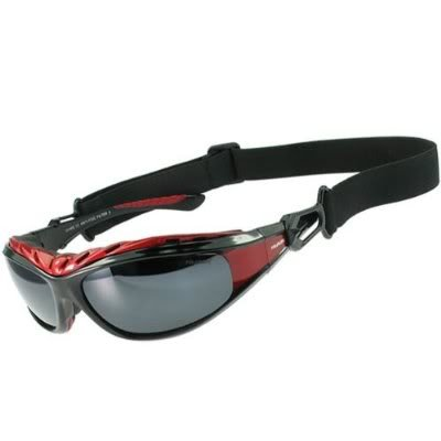 Polarlens G7 Multisport Sunglasses/ Ski Goggles / Snowboarding Goggles / Motor Sports / Water Sports/ Triathlete Sport Glasses / Reflective Flash Mirror / High Performance Flexible Polycarbonate Plastic / weight without accessories – sunglasses only – 30 g /With accessories – sunglasses, headstrap and forehead padding – 50 g/Introductory pricing for the U.S market, Outdoor Stuffs