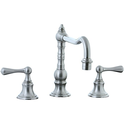 Cifial 268.250.031 Highlands Widespread Kitchen Faucet with Metal Lever Handles, Unlacquered - Brass Handles Highlands