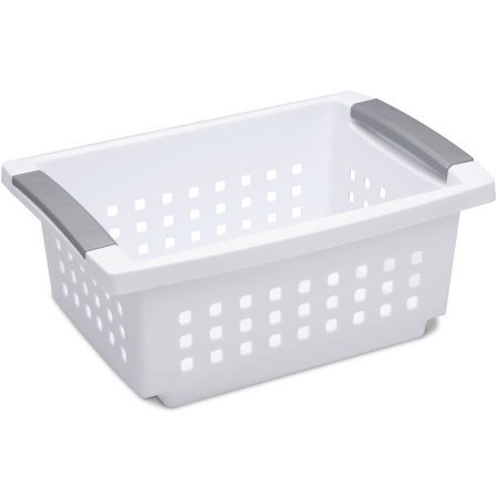 Small Stacking Basket- White Case of 6