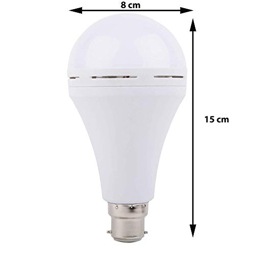 Gesto 9W Inverter Rechargeable Base LED B-22 Ceramic Emergency Bulb.Light on by Fingers. Up to 5 hrs...