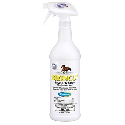 Bronco E Equine Fly Spray Plus Citronella Scent, 32 fl oz; Okocat Natural Wood Cat Litter, Long Hair Breeds, 8.4 lbs