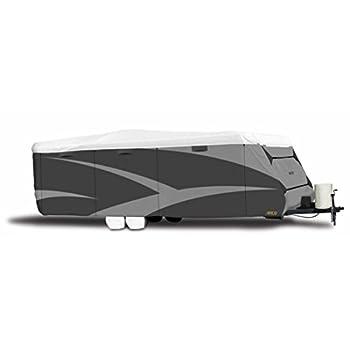 Image of ADCO 34841 Designer Series Gray/White 20' 1' - 22' DuPont Tyvek Travel Trailer Cover RV & Trailer Covers