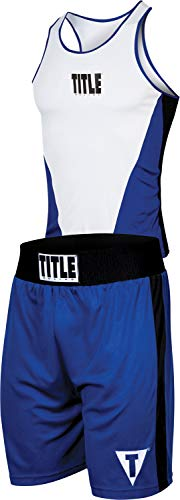 Title Boxing Aerovent Elite Amateur Boxing Set 3, Blue/White, Large