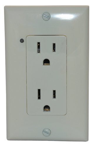 Simply Automated URD-30-A Custom Series Controlled Receptacle, Almond