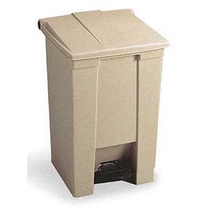 Bunzl Distribution Midcentral 17704461 Rubbermaid 6144 Step-On Waste Container, 12  gal, Beige