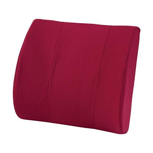 DMI Standard Lumbar Cushion with Strap Burgundy by DMI ()