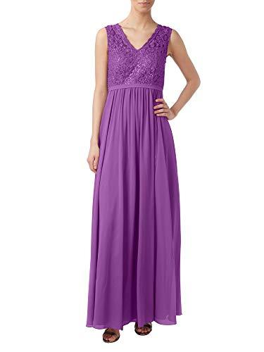 Chiffon Braut Lang Abendkleider La Violett Partykleider Linie Brautmutterkleider A Rock Marie Spitze Attraktive aqwwBW1t5