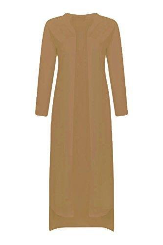 Re Tech UK Mujer Caído Dobladillo Maxi Abrigo de Paño Kimono Largo Chaqueta Americana Boyfriend: Amazon.es: Ropa y accesorios
