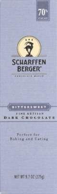 Scharffen Berger 70% Bittersweet Dark Chocolate, 9.7-Ounce Package (Pack of 6) by Scharffen Berger