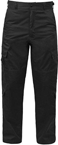 (Black 9 Pocket Cargo Tactical Uniform Pants EMT EMS Paramedic Pants)