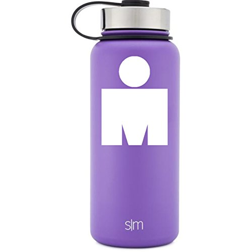 M Dot Ironman White Vinyl Decal for Water Bottles, Drinkware, Vehicles, or (Dots Train Case)