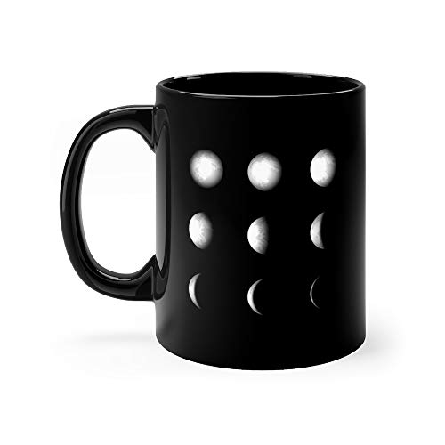 (Phases Of Solar Eclipse Moon Cycle Funny Cute Mug Ceramic 11 Oz)