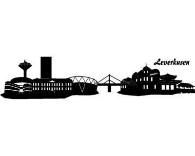 Samunshi® Wandtattoo Leverkusen Skyline Wandaufkleber Wandaufkleber Wandaufkleber in 6 Größen und 19 Farben (190x41cm dunkelrot) B00URSCPQC Wandtattoos & Wandbilder 8740ab