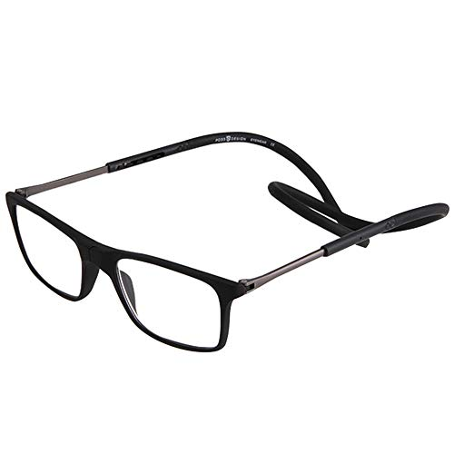 ElectroOptix Portable Reading Glasses, Magnetic Front Connection Adjustable Ultra-Light Neck Reading Glasses, Suitable for DIY Sewing Crafts Watching Mobile Phones Reading Newspapers