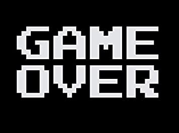 Amazon com: CCI Game Over Funny Video Game Ending Decal Vinyl