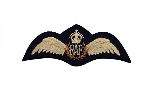 [British WW2 Royal Air Force RAF PILOTS WINGS Padded Uniform Breast Patch] (Ww2 Navy Uniforms)