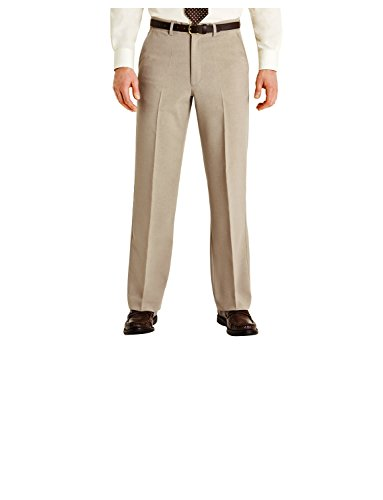 Cheap  Mens Quality Formal Smart Casual Work Trousers Home/Office Biscuit 32W x 31L