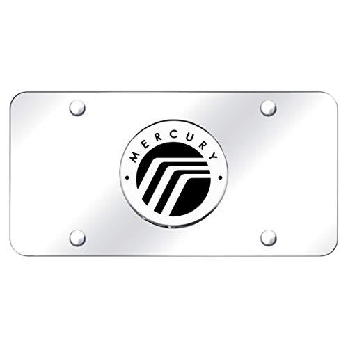 - Au-Tomotive Gold, INC. Mercury Chrome Emblem Logo Front License Plate Frame Mirror Stainless Steel