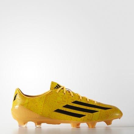 adidas Bota adizero F50 TRX FG Messi Solar gold-Negra negro y dorado - dorado