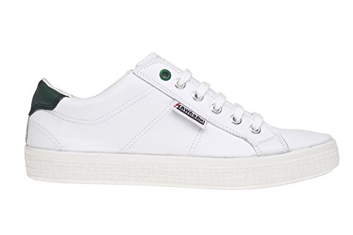 Kawasaki Badmin Leather, Zapatillas Unisex Adulto Blanco (White / Green He)