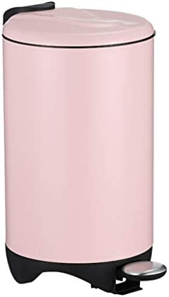 キッチンゴミ箱 蓋ステンレススチール12L / 3ガロンキッチンやバスルームのゴミ箱(11 * 17.7インチ)と足踏み式ゴミ箱家庭用ごみ箱 ごみ収集 (Color : Pink)