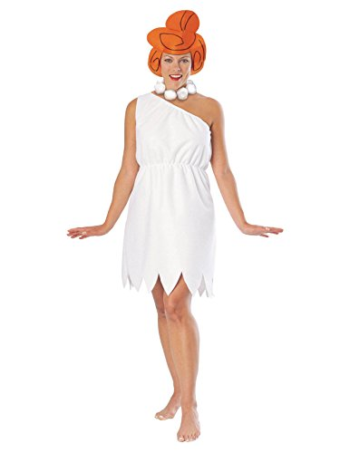 (The Flintstones Wilma Flintstone Costume, White,)