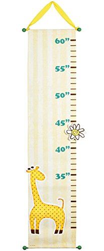 Carson Home Accents Giraffe Growth Chart with Clothespin - Giraffe Growth Chart Canvas