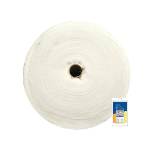 - Fairfield 90-Inch by 30-Yard Poly-Fil Traditional Quilt Batting, White