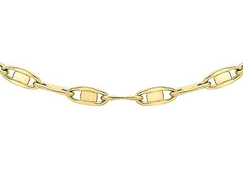 """Jewellery World Bague en or jaune 9carats Plat Ovale Lien Chaîne 41cm/16"""""""
