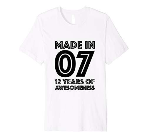 12th Birthday Shirt Boys Girls Age 12 Year Old Gift Twelve