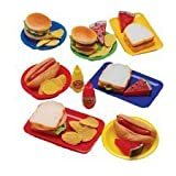 Lunch-Time Favorites - Realistic Sort Vinyl Pretend Food for Sandwiches and Sides